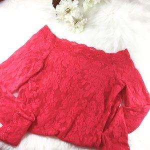 Victoria Secret size S floral lace long sleeve top